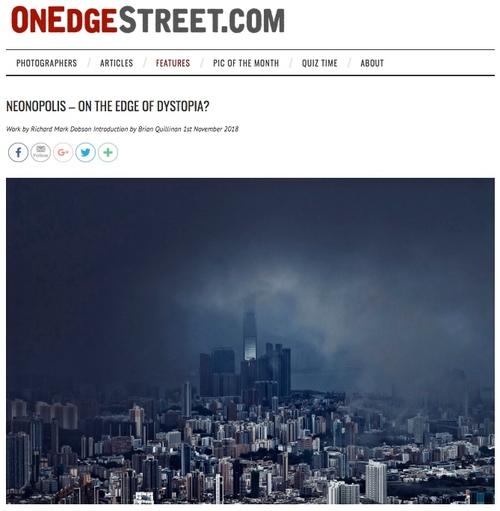 OnEdgeStreet-Neonopolis.  On the Edge of Dystopia