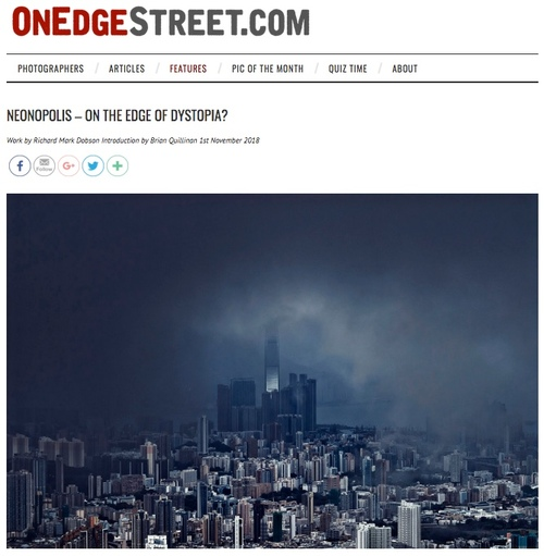 OnEdgeStreet-Neonopolis.  On the Edge of Dystopia